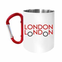 Кружка з ручкою-карабіном London