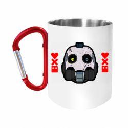 "Кружка с ручкой ""карабин"" Love death and robots"