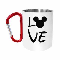 Кружка з ручкою-карабіном Love Mickey Mouse (male)