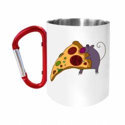 """Кружка с ручкой """"карабин"""" Love Pizza 2"""