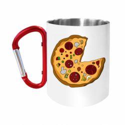 Кружка з ручкою-карабіном Love Pizza