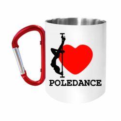 Кружка з ручкою-карабіном Love Pole Dance