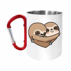 Кружка з ручкою-карабіном Love sloths