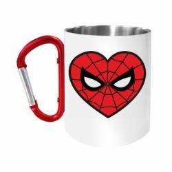 Кружка з ручкою-карабіном Love spider man