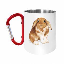 Кружка з ручкою-карабіном Маленький кролик