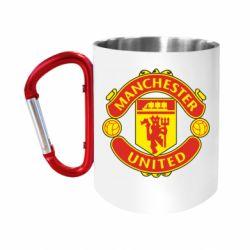 Кружка з ручкою-карабіном Манчестер Юнайтед