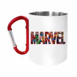 """Кружка с ручкой """"карабин"""" Marvel comics and heroes"""