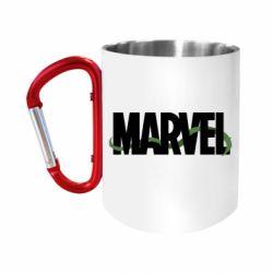 """Кружка с ручкой """"карабин"""" Marvel logo and vine"""