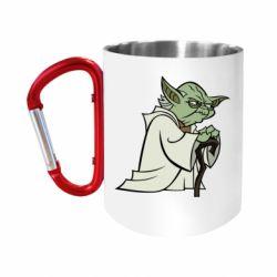 """Кружка с ручкой """"карабин"""" Master Yoda"""