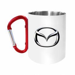 """Кружка с ручкой """"карабин"""" Mazda 3D Logo"""