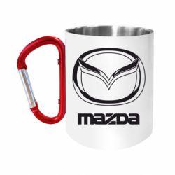 Кружка з ручкою-карабіном Mazda Logo