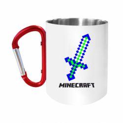 """Кружка с ручкой """"карабин"""" Меч Minecraft"""