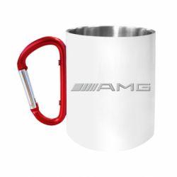 Кружка з ручкою-карабіном Mercedes-AMG (металік)