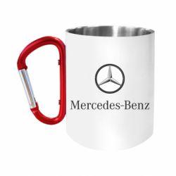 """Кружка с ручкой """"карабин"""" Mercedes-Benz Logo"""