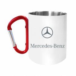 Кружка з ручкою-карабіном Mercedes Benz logo