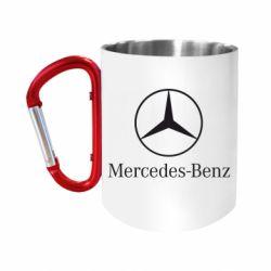 """Кружка с ручкой """"карабин"""" Mercedes Benz"""