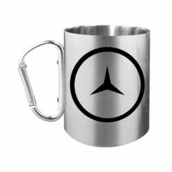 "Кружка с ручкой ""карабин"" Mercedes new logo"