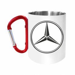 Кружка з ручкою-карабіном Mercedes