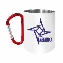 Кружка з ручкою-карабіном Логотип Metallica