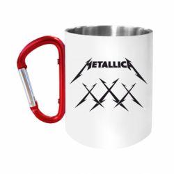 Кружка з ручкою-карабіном Metallica XXX