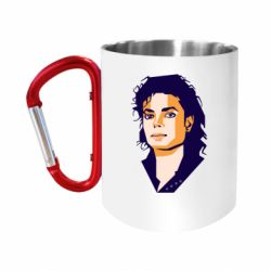 Кружка з ручкою-карабіном Michael Jackson Graphics Cubism