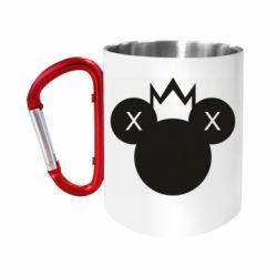 Кружка з ручкою-карабіном Mickey with a crown
