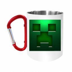 """Кружка с ручкой """"карабин"""" Minecraft Face"""