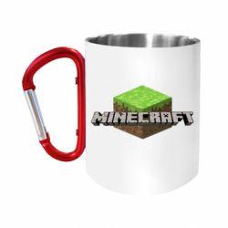 Кружка з ручкою-карабіном Minecraft Land