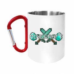 Кружка з ручкою-карабіном Minecraft алмазний меч