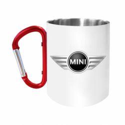 """Кружка с ручкой """"карабин"""" Mini Cooper"""