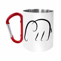 Кружка з ручкою-карабіном Minimalistic elephant