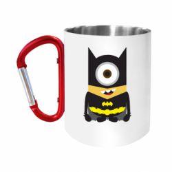 Кружка з ручкою-карабіном Minion Batman