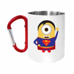 Кружка з ручкою-карабіном Minion Superman