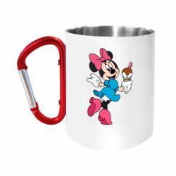 "Кружка с ручкой ""карабин"" Minnie Mouse and Ice Cream"