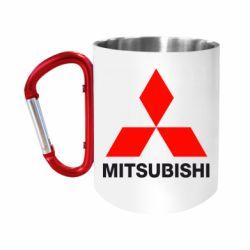 """Кружка с ручкой """"карабин"""" Mitsubishi small"""
