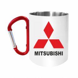 """Кружка с ручкой """"карабин"""" MITSUBISHI"""