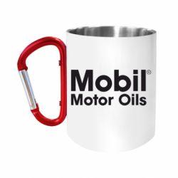 """Кружка с ручкой """"карабин"""" Mobil Motor Oils"""