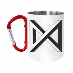Кружка з ручкою-карабіном Monsta x simbol