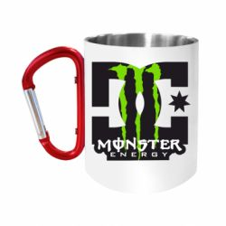 Кружка з ручкою-карабіном Monster Energy DC