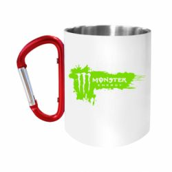 Кружка з ручкою-карабіном Monster Energy Drink