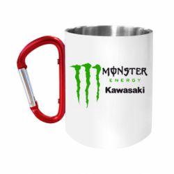 Кружка з ручкою-карабіном Monster Energy Kawasaki
