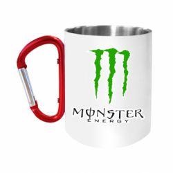 Кружка з ручкою-карабіном Monster Energy Logo