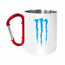 Кружка з ручкою-карабіном Monster Energy Stripes 2