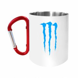 "Кружка с ручкой ""карабин"" Monster Energy Stripes 2"