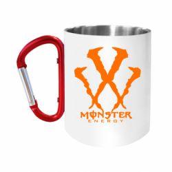 "Кружка с ручкой ""карабин"" Monster Energy W"