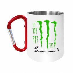 """Кружка с ручкой """"карабин"""" Monster One"""