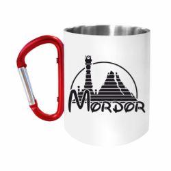 "Кружка с ручкой ""карабин"" Mordor (Властелин Колец)"