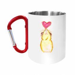 Кружка з ручкою-карабіном Морська свинка і сердечко