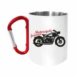 Кружка з ручкою-карабіном Motorcycle forever