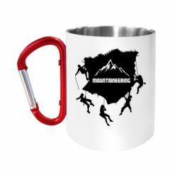 Кружка з ручкою-карабіном Mountaineering